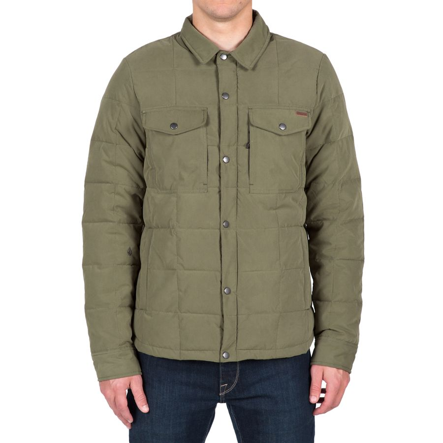 Volcom Fleming Jacket - Men's Military アウトドア メンズ 男性用 シャツ ジャケット Flannel Shirts And Jackets