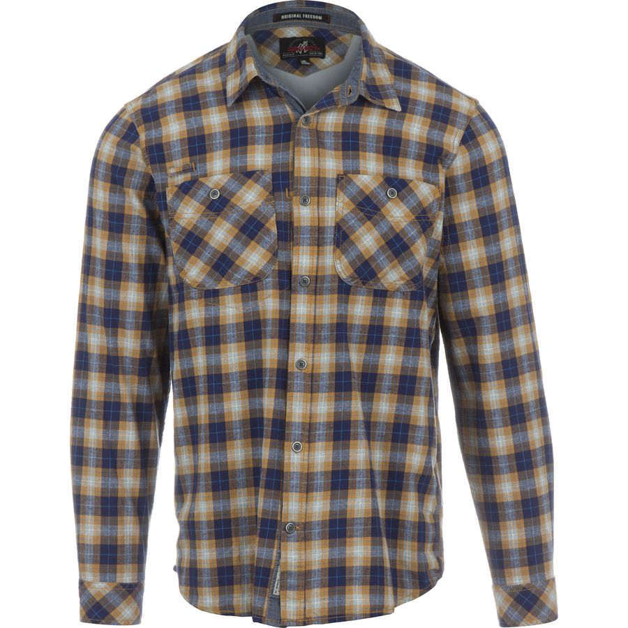 Gramicci Throwback Plaid Flannel Shirt - Long-Sleeve - Men's Golden Sun アウトドア メンズ 男性用 シャツ ジャケット Flannel Shirts And Jackets