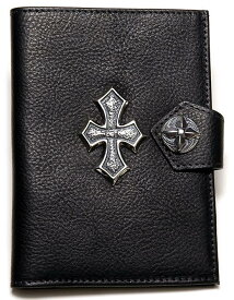 ビルウォールレザー BWL Bill Wall Leather Passport Cover with Silver Cross Bill Wall Fine Leather Hand Crafted Wallets