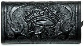 ビルウォールレザー BWL Bill Wall Leather Tooled Skull Black Bill Wall Fine Leather Hand Crafted Wallets