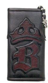 ビルウォールレザー BWL Bill Wall Leather Initial Crown Wallet Bill Wall Fine Leather Hand Crafted Wallets