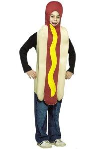 Lightweight Hot Dog 子供用コスチューム クリスマス ハロウィン コスプレ 衣装 仮装 男の子 女の子 子供 小学生 かわいい 面白い 食べ物 かぼちゃ 飲み物 学園祭 文化祭 学祭 大学祭 高校 イベント