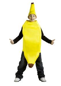 Banana 子供用コスチューム クリスマス ハロウィン コスプレ 衣装 仮装 男の子 女の子 子供 小学生 かわいい 面白い 食べ物 かぼちゃ 飲み物 学園祭 文化祭 学祭 大学祭 高校 イベント