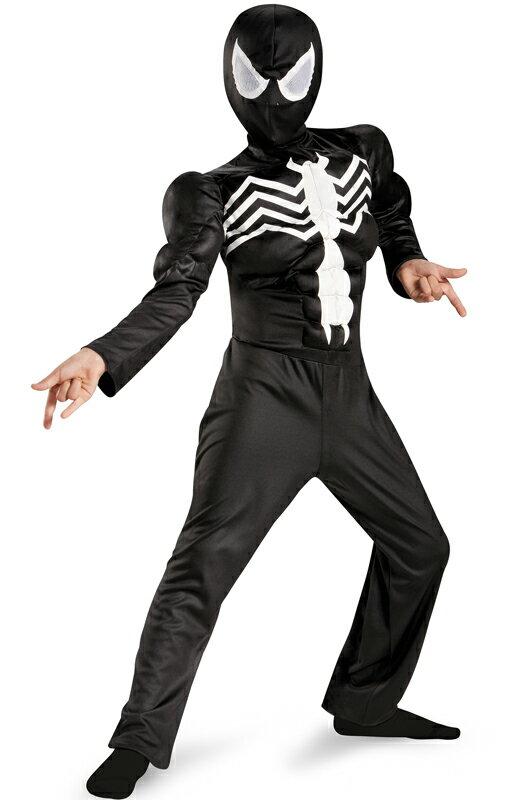 スパイダーマン Marvel Ultimate Spider-Man Black Suited Spider-Man Muscle 子供用コスチューム ハロウィン コスプレ 衣装 仮装 男の子 女の子 子供 小学生 かわいい 面白い ヒーロー 学園祭 文化祭 学祭 大学祭 高校 イベント