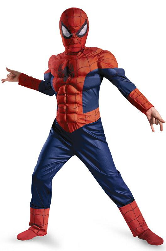 スパイダーマン Marvel Ultimate Spider-Man Muscle Light Up 子供用コスチューム ハロウィン コスプレ 衣装 仮装 男の子 女の子 子供 小学生 かわいい 面白い ヒーロー 学園祭 文化祭 学祭 大学祭 高校 イベント