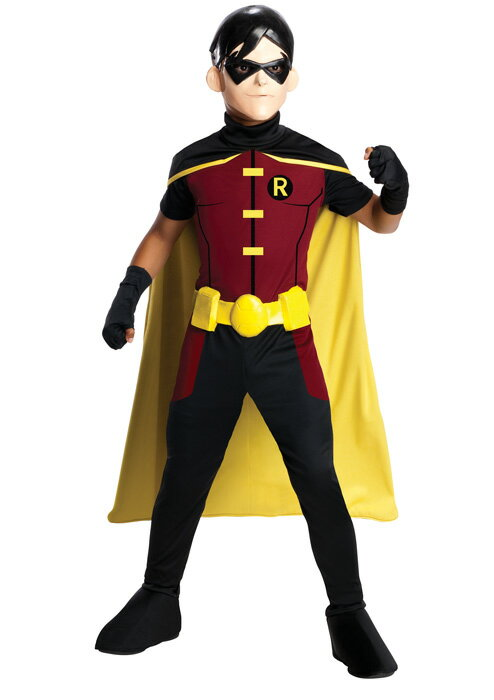 DC Comic's Young Justice Robin 子供用コスチューム ハロウィン コスプレ 衣装 仮装 男の子 女の子 子供 小学生 かわいい 面白い ヒーロー 学園祭 文化祭 学祭 大学祭 高校 イベント