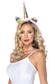 Rainbow Unicorn Headband コスチューム クリスマス ハロウィン コスプレ 衣装 仮装 大人用 面白い おとぎ話 学園祭 文化祭 学祭 大学祭 高校 イベント