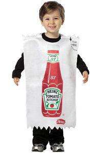 Heinz Ketchup Packet 幼児,子供用コスチューム クリスマス ハロウィン コスプレ 衣装 仮装 幼児 赤ちゃん 子供 0歳 1歳 かわいい 面白い 食べ物 かぼちゃ 飲み物 学園祭 文化祭 学祭 大学祭 高校 イ