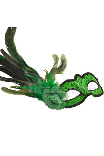 MadameMardiGrasMask(Green)/コスチューム/ハロウィン/コスプレ/衣装/仮装/面白い/ウィッグ/かつら/マスク/仮面