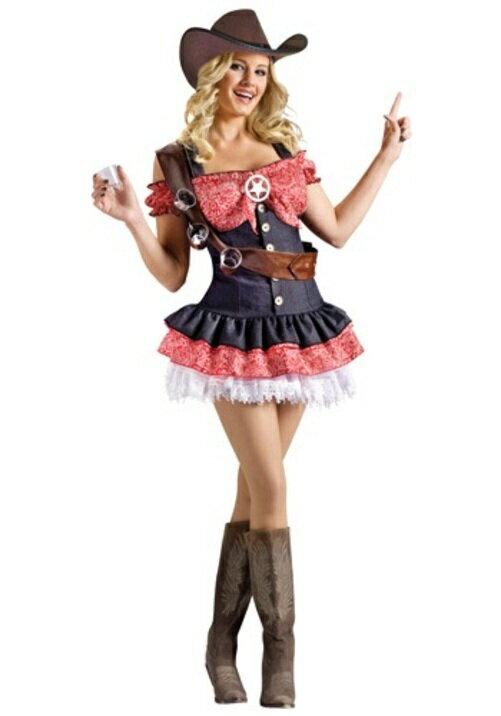 コスプレ ハロウィン セクシー SHOTGUN SHERIFF 大人用 レディス 女性用 衣装 ドレス ワンピース 衣装 学園祭 文化祭 コスチューム 仮装 変装