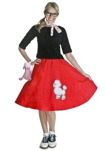レッド50S プードル 犬 ドッグスカートコスプレ コスチューム 大人用 レディス 女性用 衣装 ドレス ワンピース 仮装 衣装 忘年会 パーティ 学園祭 文化祭 学祭