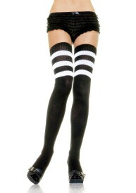 ブラック Athletic Socks with ホワイト Stripes for Women | ハロウィン コスプレ 衣装 仮装 小道具 おもしろい イベント パーティ ハロウィーン 発表会 デコレーション リボン アクセサリー メンズ レディース 子供 おしゃれ かわいい