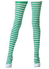 Tights with ホワイト and Kelly Green | ハロウィン コスプレ 衣装 仮装 小道具 おもしろい イベント パーティ ハロウィーン 発表会 デコレーション リボン アクセサリー メンズ レディース 子供 おしゃれ かわいい