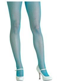Neon Blue Fishnet Tights | ハロウィン コスプレ 衣装 仮装 小道具 おもしろい イベント パーティ ハロウィーン 発表会 デコレーション リボン アクセサリー メンズ レディース 子供 おしゃれ かわいい