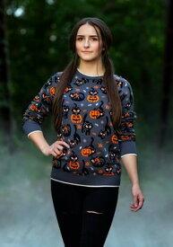 大人用 Quirky Kitty Halloween Sweater ハロウィン レディース コスプレ 衣装 女性 仮装 女性用 イベント パーティ ハロウィーン 学芸会