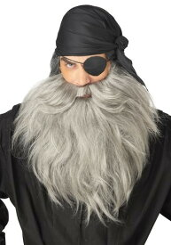 Grey 海賊 パイレーツ Beard ハロウィン コスプレ 衣装 仮装 小道具 おもしろい イベント パーティ ハロウィーン 学芸会 学園祭 学芸会 ショー お遊戯会 二次会 忘年会 新年会 歓迎会 送迎会 出し物 余興 誕生日 発表会 バレンタイン ホワイトデー