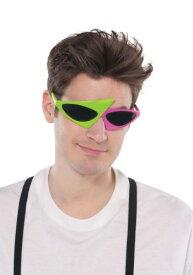 Green and Pink 80's Asymmetrical 眼鏡 ハロウィン コスプレ 衣装 仮装 小道具 おもしろい イベント パーティ ハロウィーン 学芸会 学園祭 学芸会 ショー お遊戯会 二次会 忘年会 新年会 歓迎会 送迎会 出し物 余興 誕生日 発表会 バレンタイン ホワイトデー
