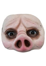 大人用 Pig Half-Mask ハロウィン コスプレ 衣装 仮装 小道具 おもしろい イベント パーティ ハロウィーン 学芸会 学園祭 学芸会 ショー お遊戯会 二次会 忘年会 新年会 歓迎会 送迎会 出し物 余興 誕生日 発表会