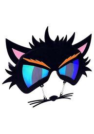 【全品ポイント5倍】ブラック Cat's サングラス 眼鏡 ハロウィン コスプレ 衣装 仮装 小道具 おもしろい イベント パーティ ハロウィーン 学芸会 学園祭 学芸会 ショー お遊戯会 二次会 忘年会 新年会 歓迎会 送迎会 出し物 余興 誕生日 発表会 バレンタイン ホワイトデー