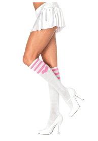 Pink Heart Socks ホワイト for Women ハロウィン コスプレ 衣装 仮装 小道具 おもしろい イベント パーティ ハロウィーン 学芸会 学園祭 学芸会 ショー お遊戯会 二次会 忘年会 新年会 歓迎会 送迎会 出し物 余興 誕生日 発表会 バレンタイン ホワイトデー