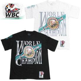 即納 WBCオフィシャル Tシャツ ボクシング 格闘技 総合格闘技 チャンピオン 王者 ブラック ホワイト 【Newモデル】