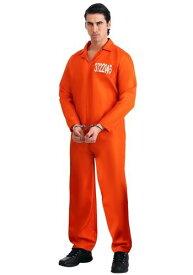 Men's Orange Prison Jumpsuit ハロウィン メンズ コスプレ 衣装 男性 仮装 男性用 イベント パーティ ハロウィーン 学芸会 学園祭 学芸会 ショー お遊戯会 二次会 忘年会 新年会 歓迎会 送迎会 出し物 余興 誕生日 発表会 バレンタイン ホワイトデー