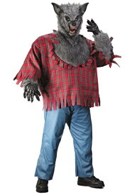 Gray 大きいサイズ Werewolf コスチューム ハロウィン メンズ コスプレ 衣装 男性 仮装 男性用 イベント パーティ ハロウィーン 学芸会 学園祭 学芸会 ショー お遊戯会 二次会 忘年会 新年会 歓迎会 送迎会 出し物 余興 誕生日 発表会 バレンタイン ホワイトデー