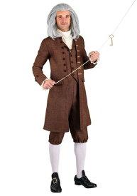 Men's 大きいサイズ Colonial Benjamin Franklin コスチューム ハロウィン メンズ コスプレ 衣装 男性 仮装 男性用 イベント パーティ ハロウィーン 学芸会