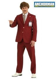 【ポイント5倍】大きいサイズ Authentic Ron Burgundy Suit コスチューム ハロウィン メンズ コスプレ 衣装 男性 仮装 男性用 イベント パーティ ハロウィーン 学芸会