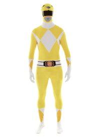 Power Rangers: Yellow Ranger Morphsuit コスチューム ハロウィン メンズ コスプレ 衣装 男性 仮装 男性用 イベント パーティ ハロウィーン 学芸会