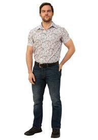 Stranger Things Jim Hopper Hawaiian Shirt (Date Night) コスチューム for Men ハロウィン メンズ コスプレ 衣装 男性 仮装 男性用 イベント パーティ ハロウィーン 学芸会