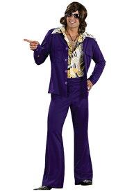 Purple Leisure Suit コスチューム ハロウィン メンズ コスプレ 衣装 男性 仮装 男性用 イベント パーティ ハロウィーン 学芸会 学園祭 学芸会 ショー お遊戯会 二次会 忘年会 新年会 歓迎会 送迎会 出し物 余興 誕生日 発表会 バレンタイン ホワイトデー
