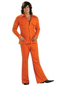 Orange Leisure Suit コスチューム ハロウィン メンズ コスプレ 衣装 男性 仮装 男性用 イベント パーティ ハロウィーン 学芸会 学園祭 学芸会 ショー お遊戯会 二次会 忘年会 新年会 歓迎会 送迎会 出し物 余興 誕生日 発表会 バレンタイン ホワイトデー