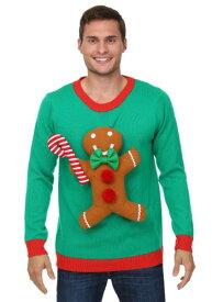 3D Gingerbread Man Ugly Christmas Sweater ハロウィン メンズ コスプレ 衣装 男性 仮装 男性用 イベント パーティ ハロウィーン 学芸会 学園祭 学芸会 ショー お遊戯会 二次会 忘年会 新年会 歓迎会 送迎会 出し物 余興 誕生日 発表会 バレンタイン ホワイトデー