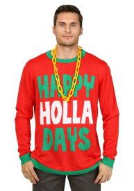 Happy Holla Days Ugly Christmas Sweater ハロウィン メンズ コスプレ 衣装 男性 仮装 男性用 イベント パーティ ハロウィーン 学芸会 学園祭 学芸会 ショー お遊戯会 二次会 忘年会 新年会 歓迎会 送迎会 出し物 余興 誕生日 発表会 バレンタイン ホワイトデー