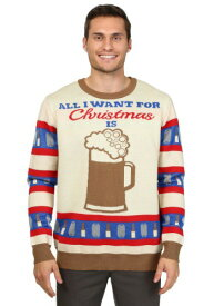 All I Want for Christmas is Beer Ugly Christmas Sweater ハロウィン メンズ コスプレ 衣装 男性 仮装 男性用 イベント パーティ ハロウィーン 学芸会