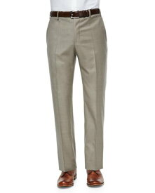 Tropical Weight Wool Trousers, Tan