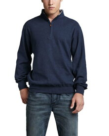 Melange Fleece Zip Sweater, Sport Navy