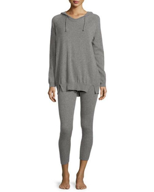 Cashmere Hoodie and Ribbed Legging Set