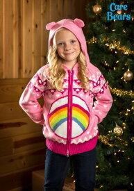 ケアベア Cheer Bear キッズ Zip Up Knit Sweater クリスマス ハロウィン 子ども コスプレ 衣装 仮装 こども イベント 子ども パーティ ハロウィーン 学芸会