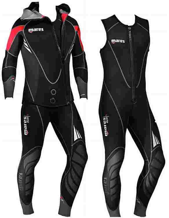 MARES マレス 5mm 2ピース ダイビング ウェットスーツ スピアフィッシング 魚突き スキューバダイビング シュノーケル ウエットスーツ スノーケル ダイブ ウェット セミドライ スーツ フルスーツ マリンスポーツ