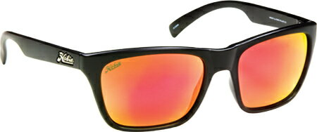 Hobie Polarized Woody Mirror Polycarbonate - Satin Black Grey Sunset Mirror アイウェア