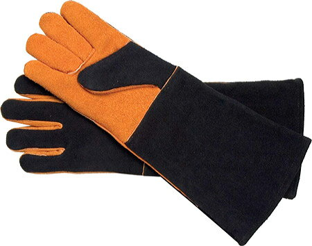 Steven Raichlen Best of Barbecue Extra Long Suede Glove Set - Black Tan 手袋 グローブ