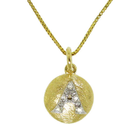 Moise Initial A Pendant Necklace 206103 - 14K Gold-Plated スカーフ