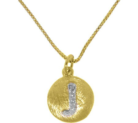 Moise Initial J Pendant Necklace 206103 - 14K Gold-Plated スカーフ