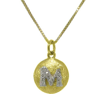 Moise Initial M Pendant Necklace 206103 - 14K Gold-Plated スカーフ
