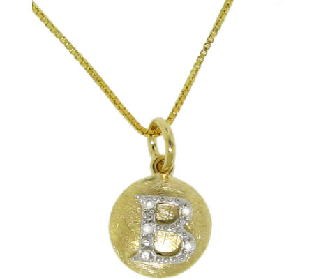Moise Initial B Pendant Necklace 206103 - 14K Gold-Plated スカーフ