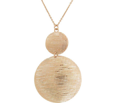 Moise Discs with Sparkling Studded Beads Pendant 402217 - 14K Rose-Gold-Plated スカーフ