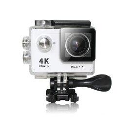 4K 動画 アクションカメラ 防水 wifi 対応 HDMI 出力搭載 広角170°スポーツカメラ Sports Action Cam ホワイトMARSHAL MAL-FW
