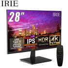 モニター 4K 28インチ フレームレス HDR対応 ディスプレイ 3840x2160 IPS HDMI ノングレア PCモニタ スピーカー内蔵 リモコン付き IRIE FFF-LD28P1